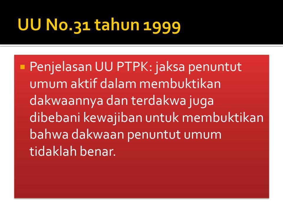UU No.31 tahun 1999