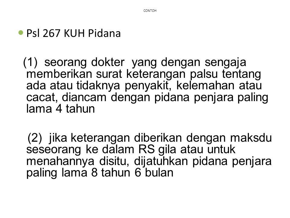 CONTOH Psl 267 KUH Pidana.