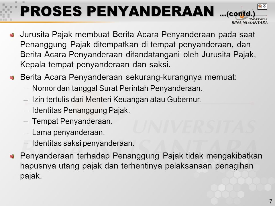 PROSES PENYANDERAAN …(contd.)
