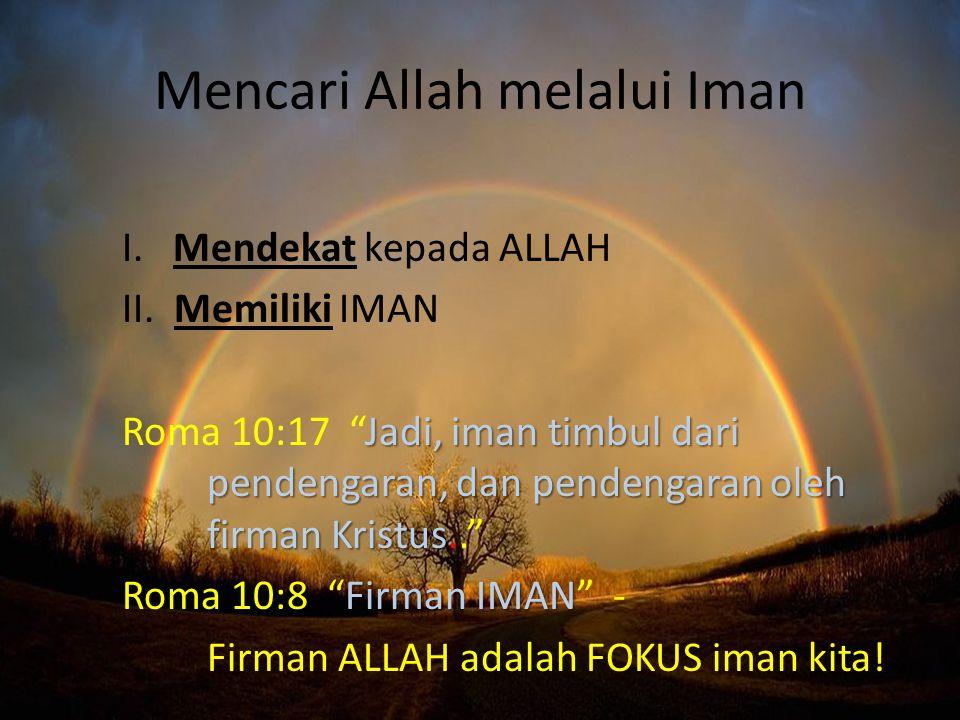 Mencari Allah melalui Iman