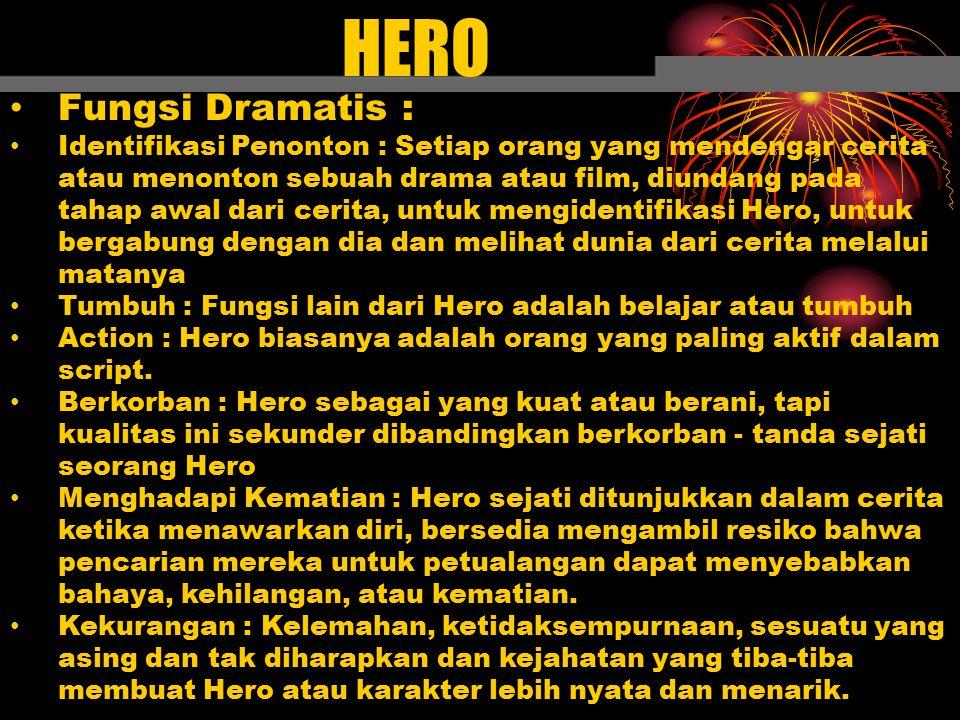 HERO Fungsi Dramatis :