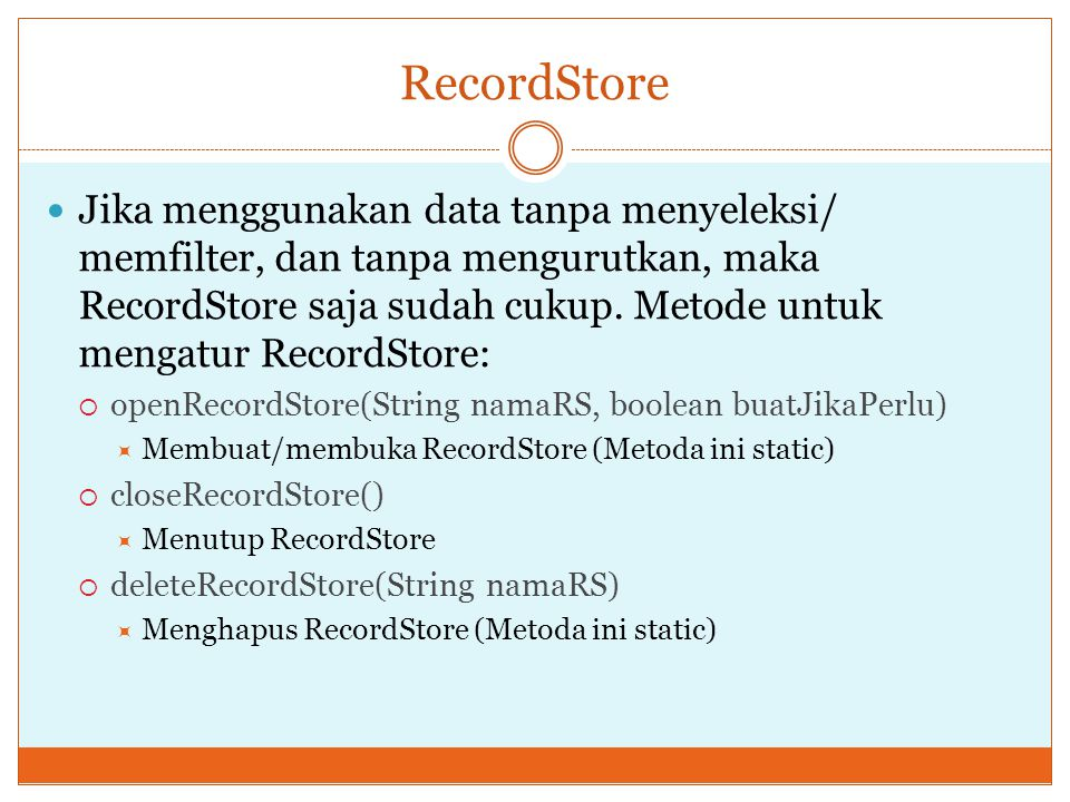 RecordStore