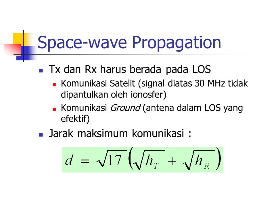 Space-wave Propagation