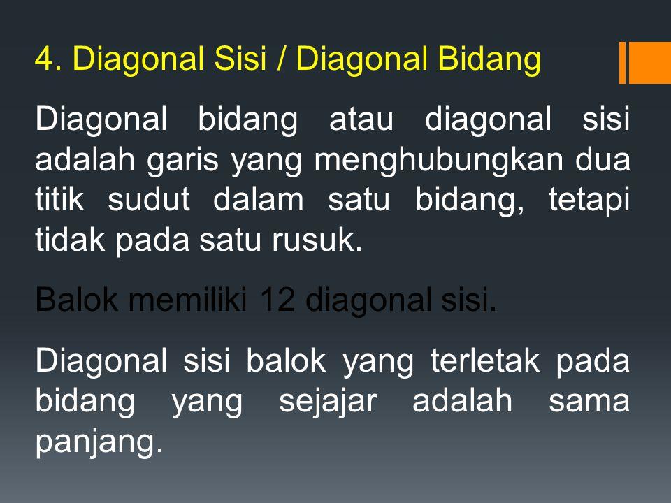 4. Diagonal Sisi / Diagonal Bidang