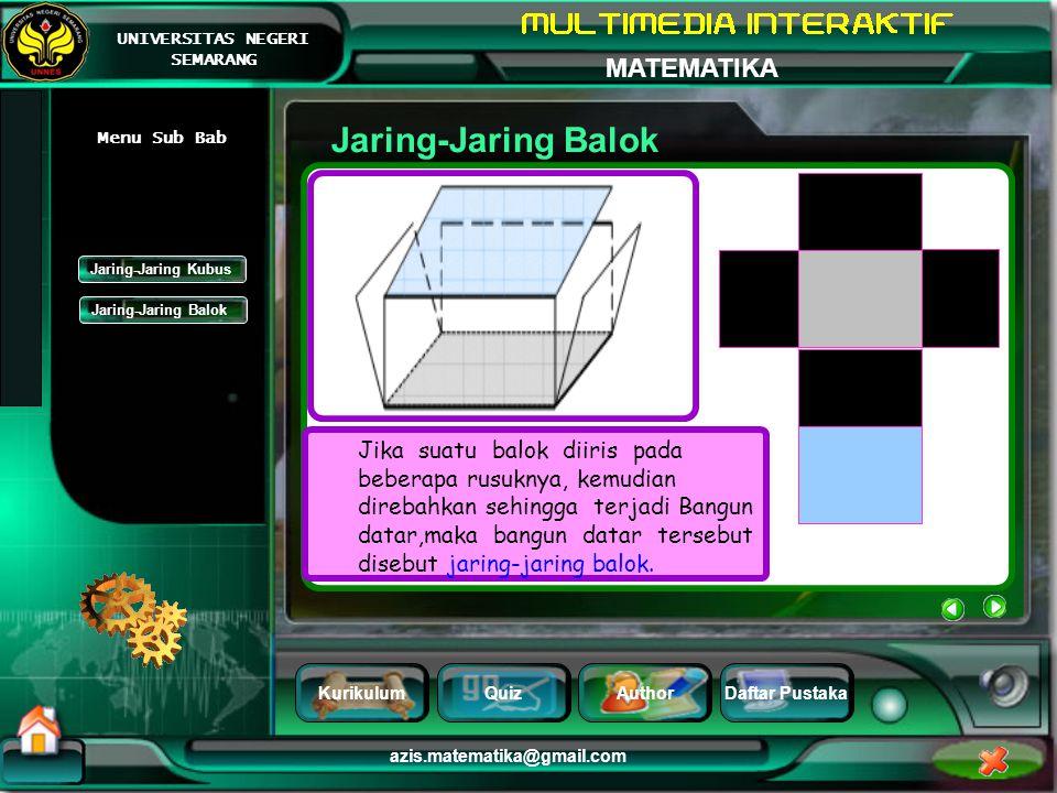 Jaring-Jaring Balok Menu Sub Bab. Jaring-Jaring Kubus. Jaring-Jaring Balok.