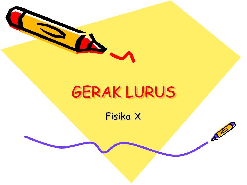 GERAK LURUS Fisika X
