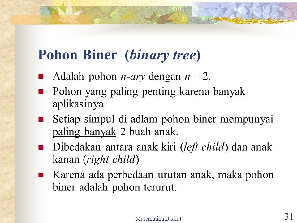 Pohon Biner (binary tree)