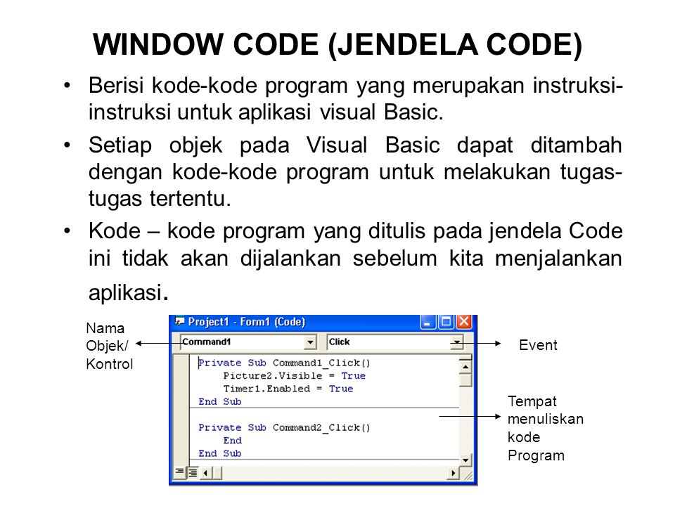 WINDOW CODE (JENDELA CODE)