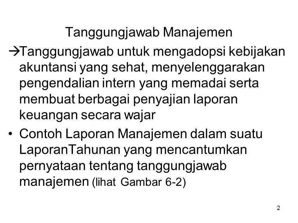 Tanggungjawab Manajemen