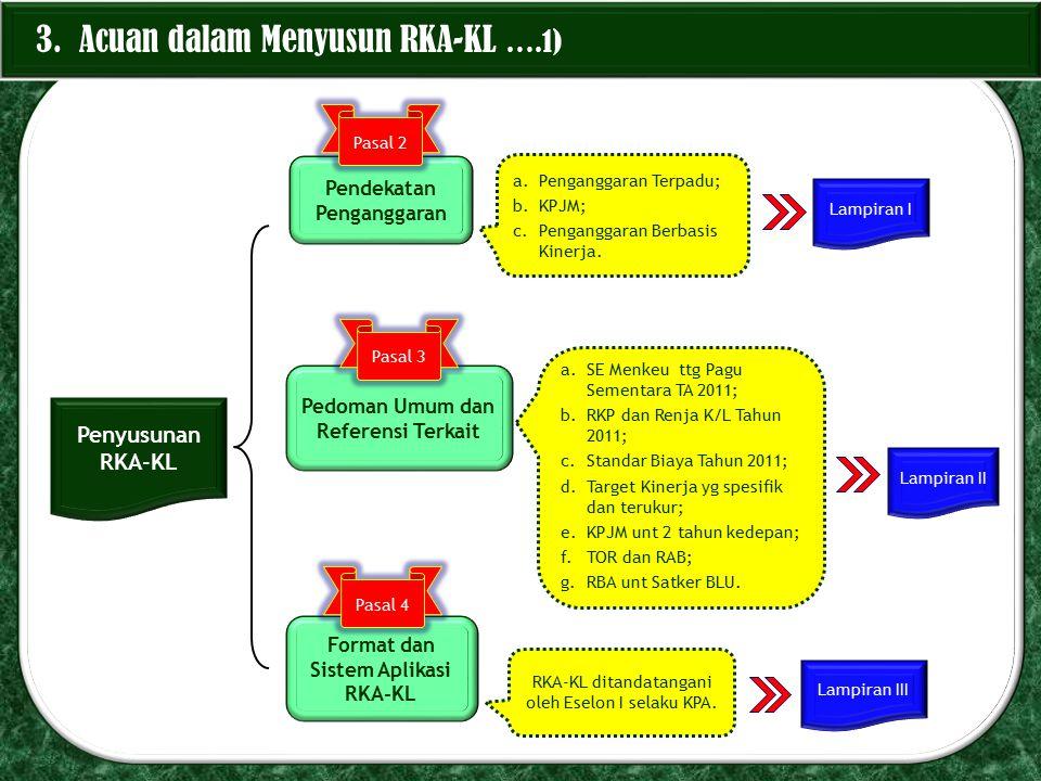 3. Acuan dalam Menyusun RKA-KL ….1)