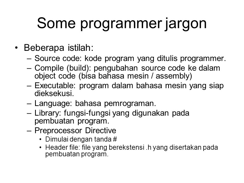 Some programmer jargon