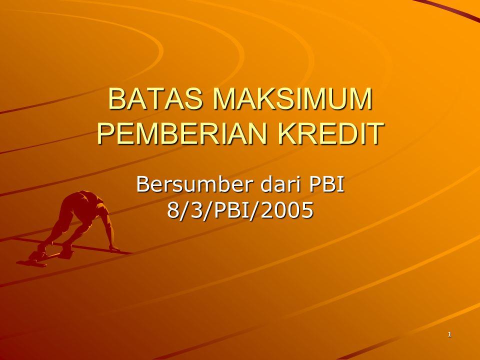 BATAS MAKSIMUM PEMBERIAN KREDIT