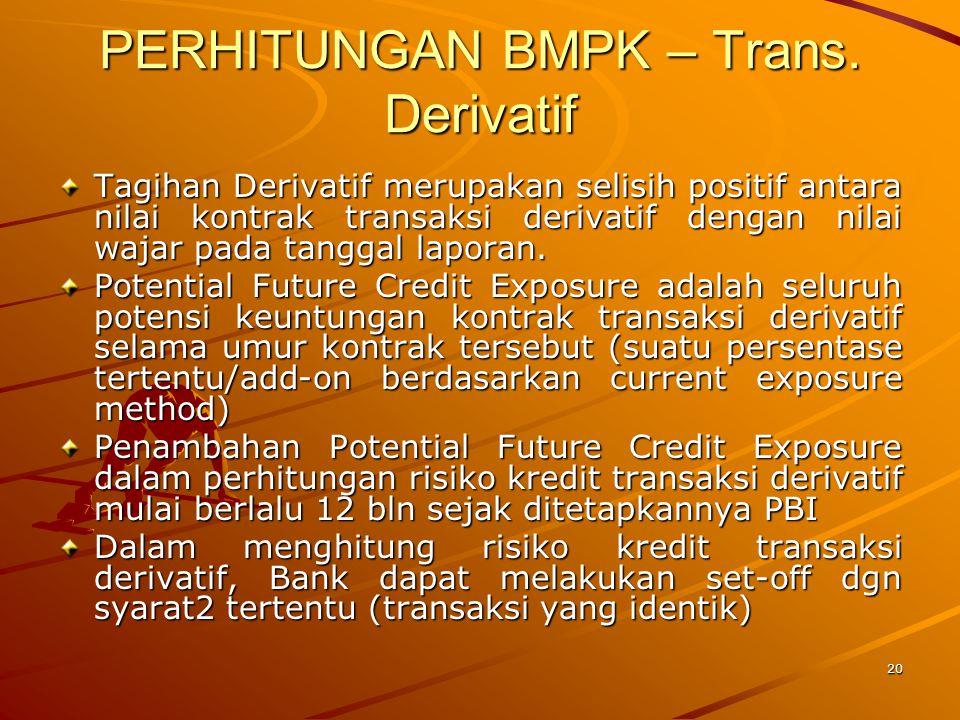 PERHITUNGAN BMPK – Trans. Derivatif