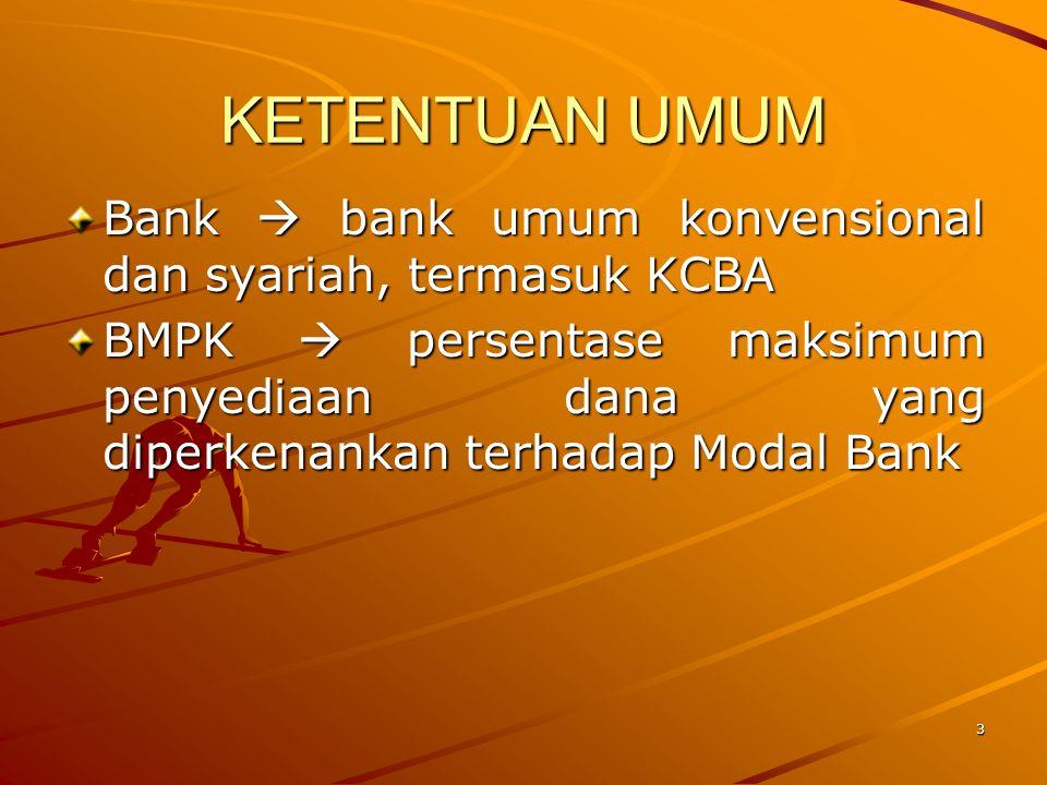 KETENTUAN UMUM Bank  bank umum konvensional dan syariah, termasuk KCBA.