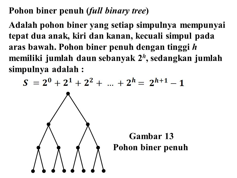 Pohon biner penuh (full binary tree)