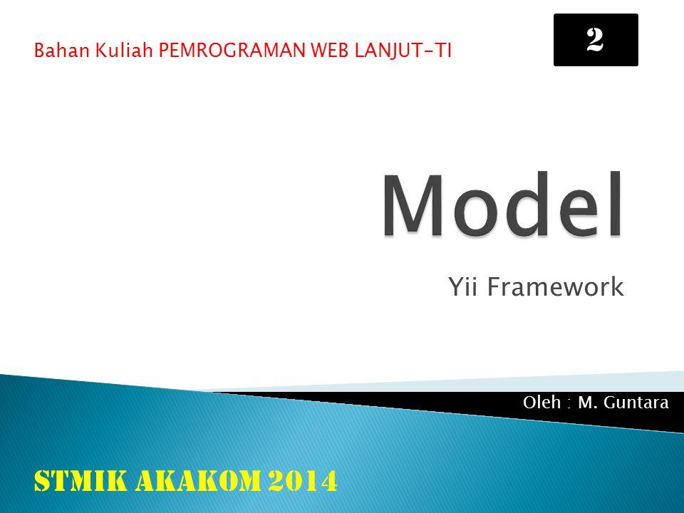 Model 2 STMIK AKAKOM 2014 Yii Framework