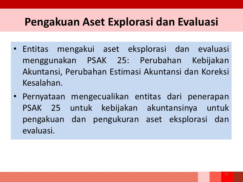 Pengakuan Aset Explorasi dan Evaluasi