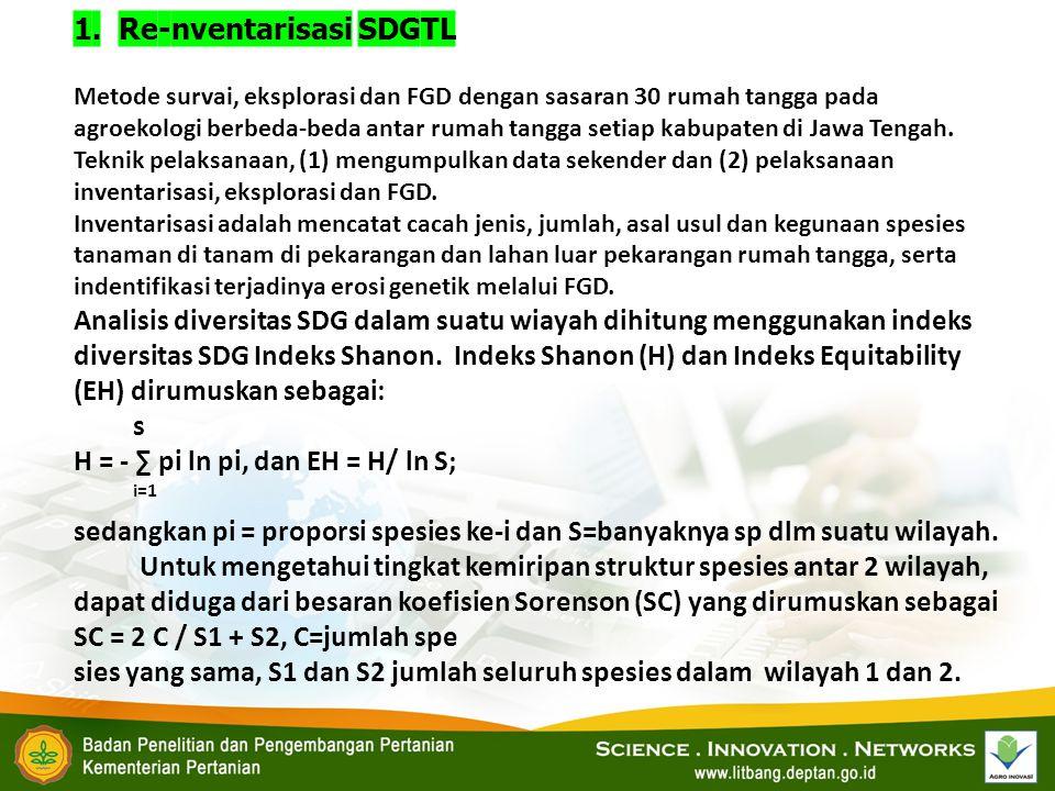 1. Re-nventarisasi SDGTL