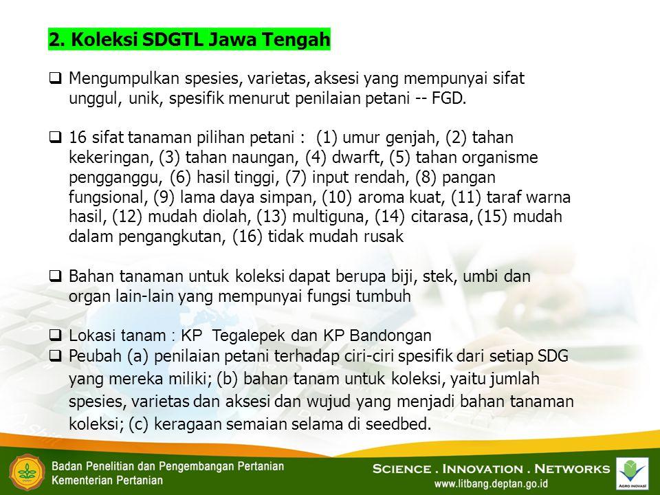 2. Koleksi SDGTL Jawa Tengah