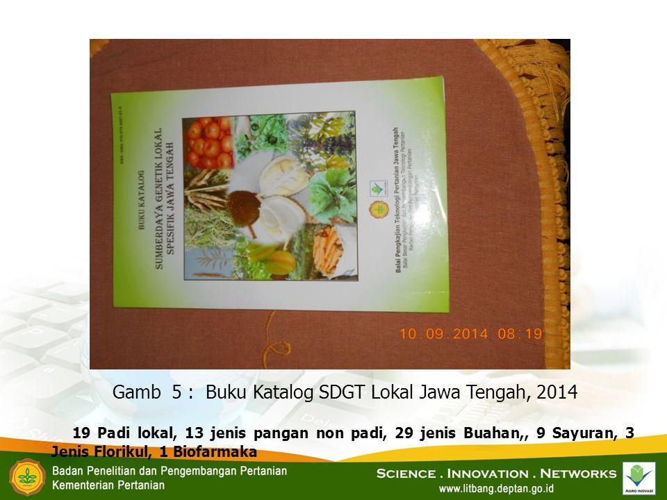 Gamb 5 : Buku Katalog SDGT Lokal Jawa Tengah, 2014
