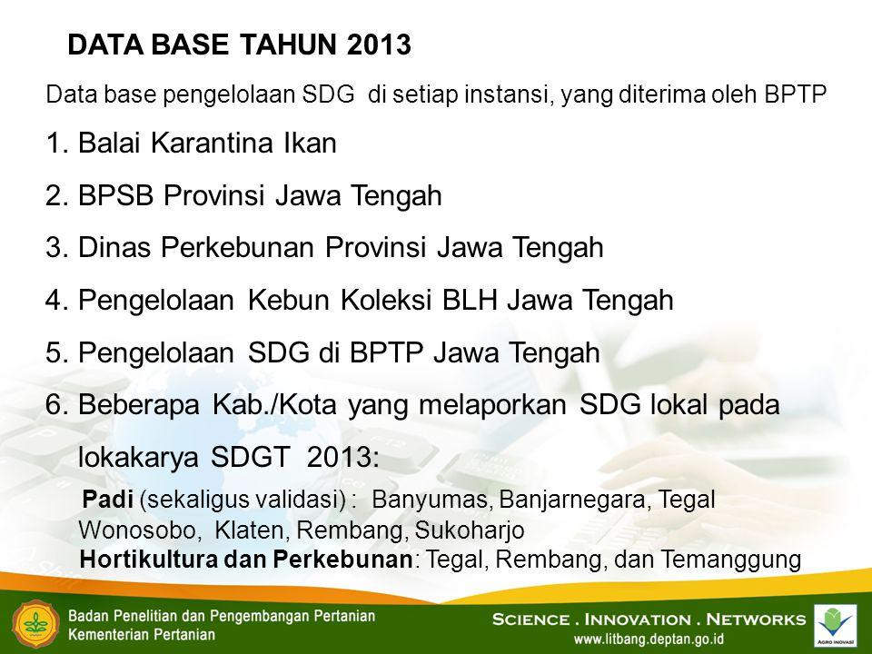 BPSB Provinsi Jawa Tengah Dinas Perkebunan Provinsi Jawa Tengah