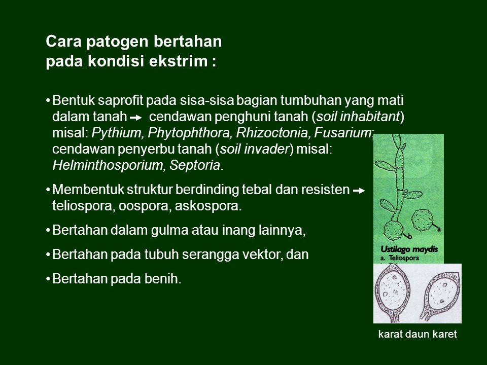 Cara patogen bertahan pada kondisi ekstrim :