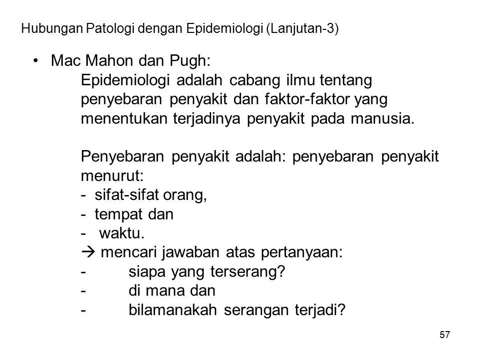 Hubungan Patologi dengan Epidemiologi (Lanjutan-4)