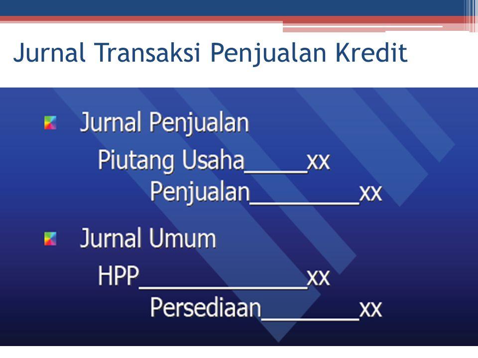 Jurnal Transaksi Penjualan Kredit