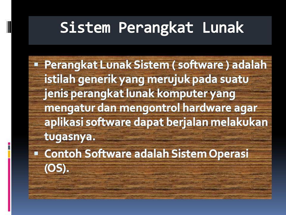 Sistem Perangkat Lunak