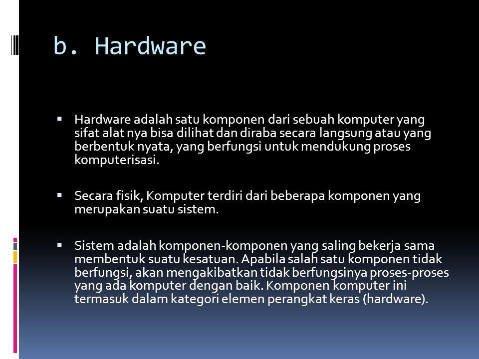 b. Hardware