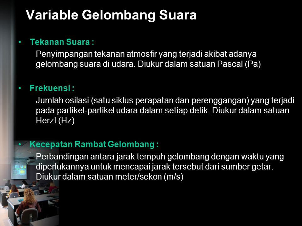 Variable Gelombang Suara