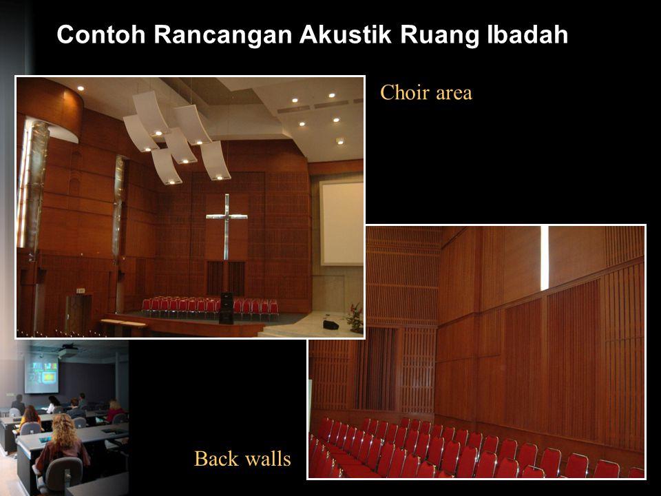 Contoh Rancangan Akustik Ruang Ibadah