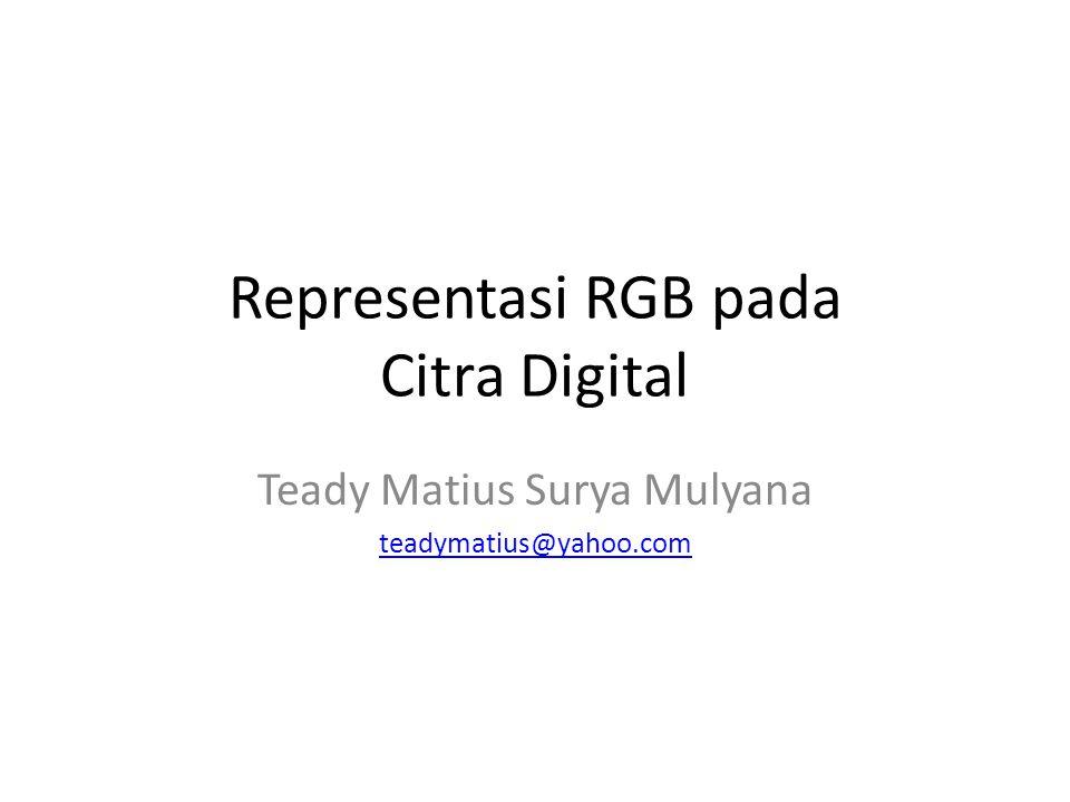 Representasi RGB pada Citra Digital