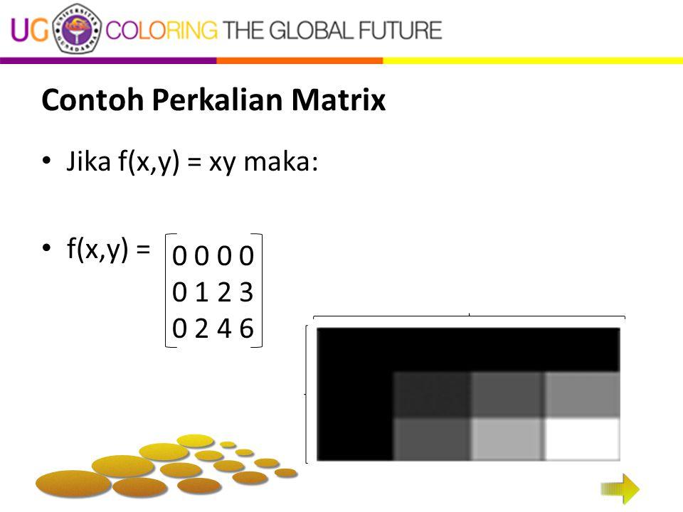Contoh Perkalian Matrix