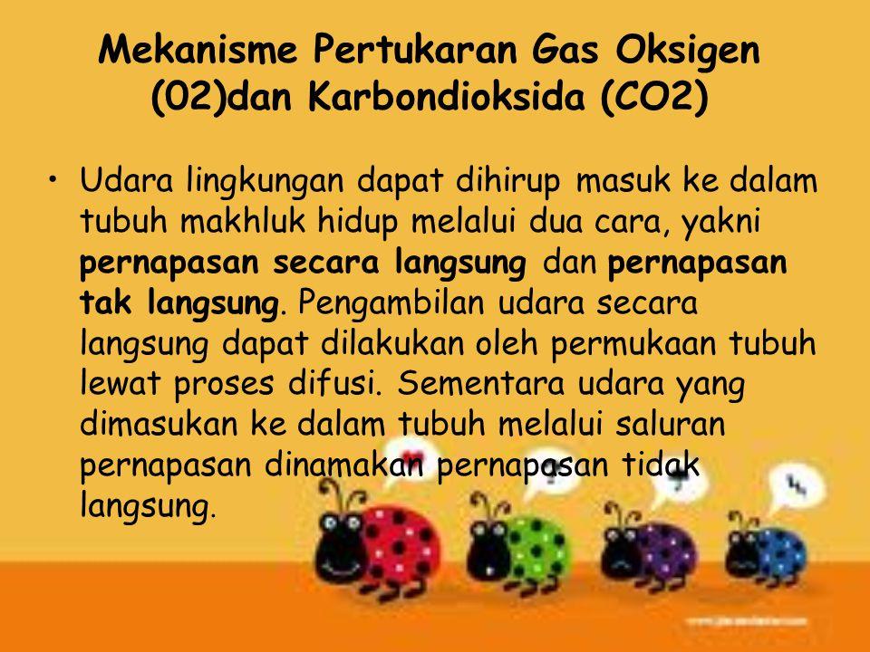 Mekanisme Pertukaran Gas Oksigen (02)dan Karbondioksida (CO2)