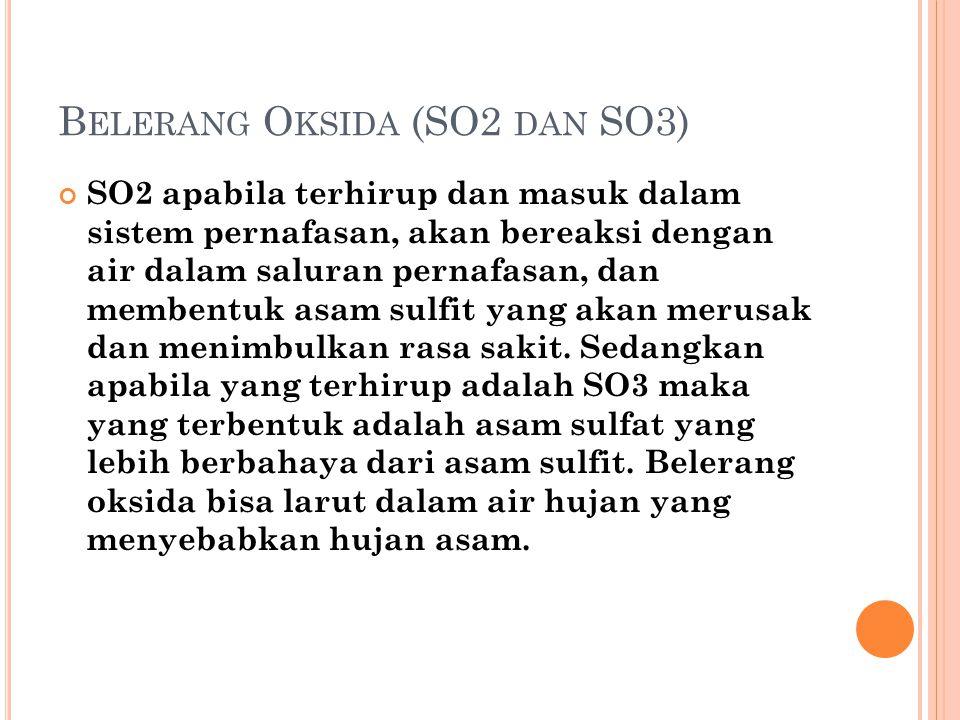 Belerang Oksida (SO2 dan SO3)