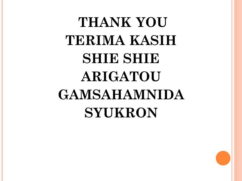 THANK YOU TERIMA KASIH SHIE SHIE ARIGATOU GAMSAHAMNIDA SYUKRON