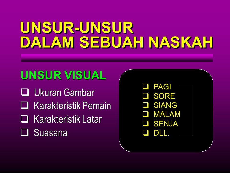 UNSUR-UNSUR DALAM SEBUAH NASKAH UNSUR VISUAL Ukuran Gambar