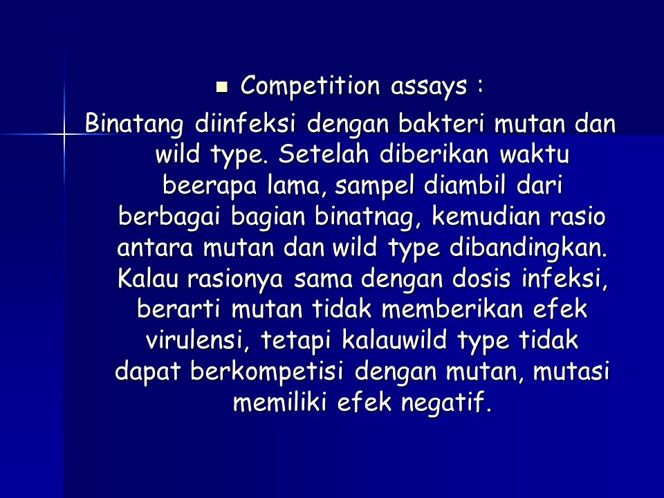 Competition assays :