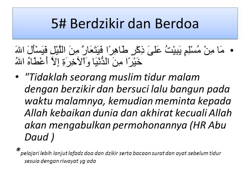 5# Berdzikir dan Berdoa