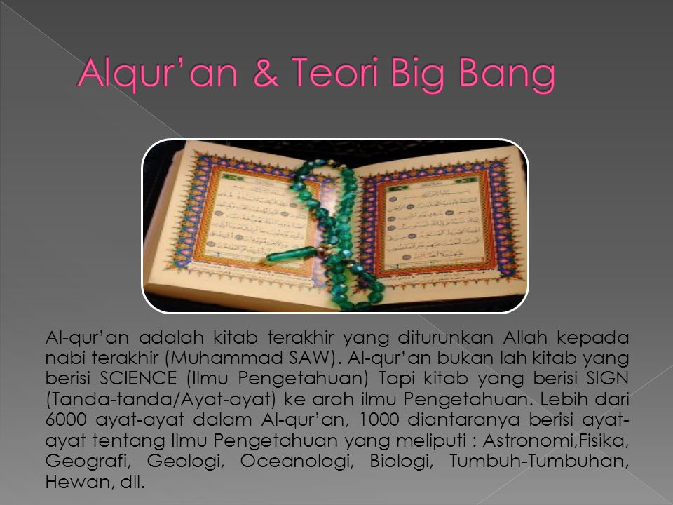 Alqur'an & Teori Big Bang