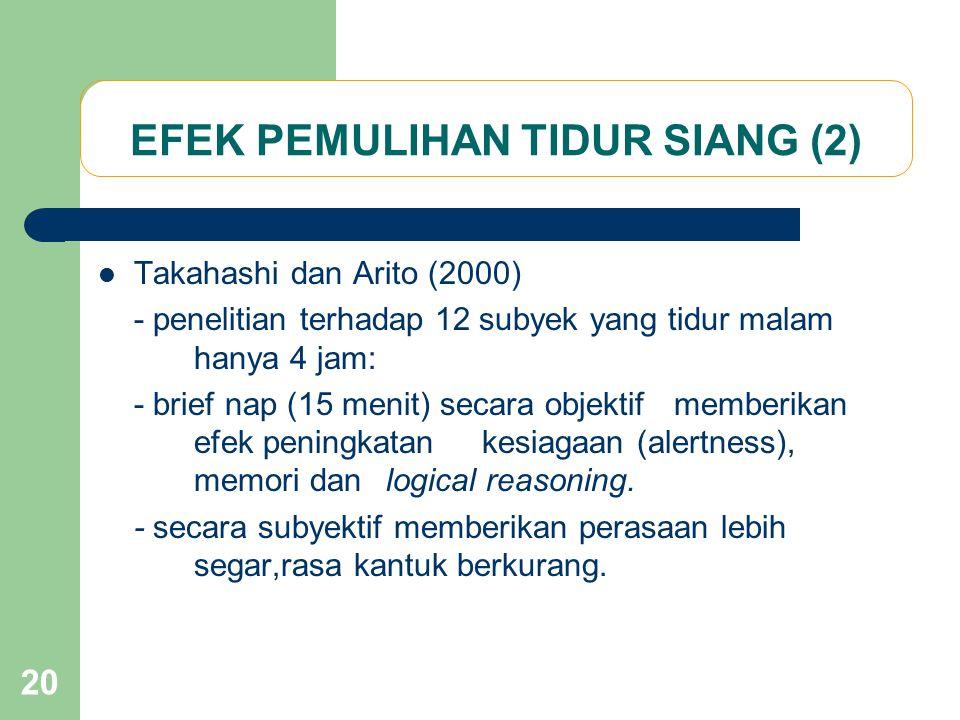 EFEK PEMULIHAN TIDUR SIANG (2)