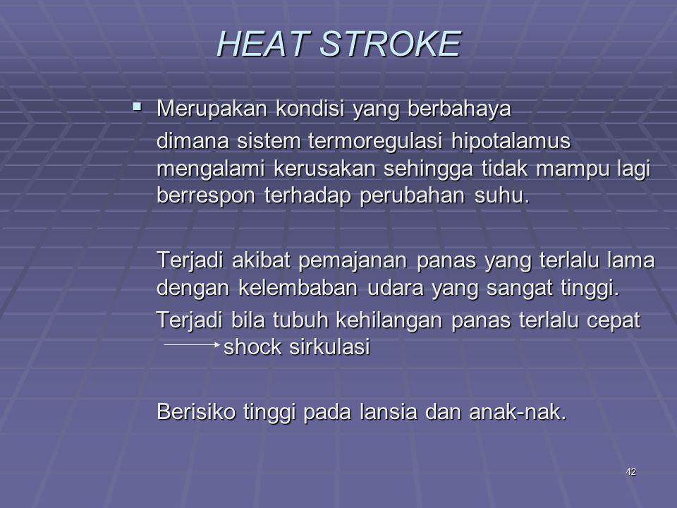 HEAT STROKE Merupakan kondisi yang berbahaya