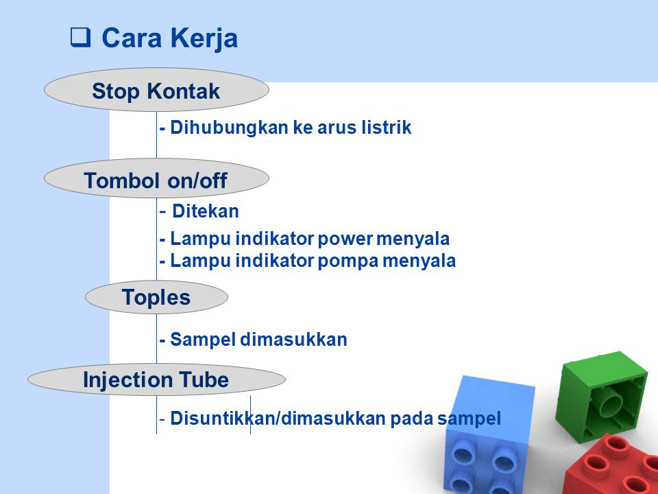 Cara Kerja Stop Kontak - Ditekan Tombol on/off Toples Injection Tube