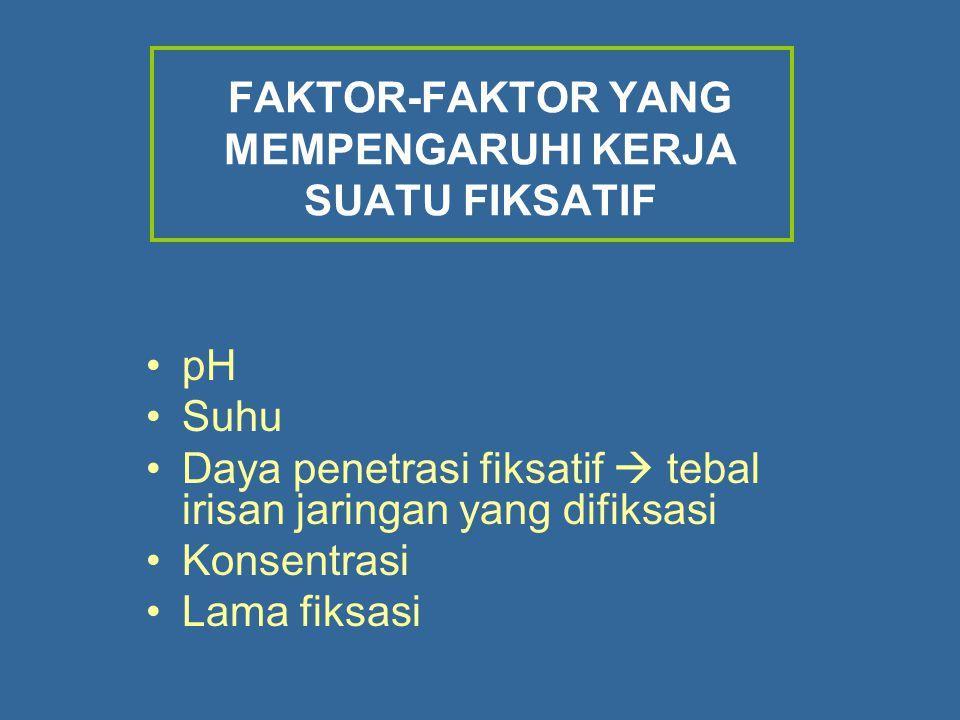 FAKTOR-FAKTOR YANG MEMPENGARUHI KERJA SUATU FIKSATIF