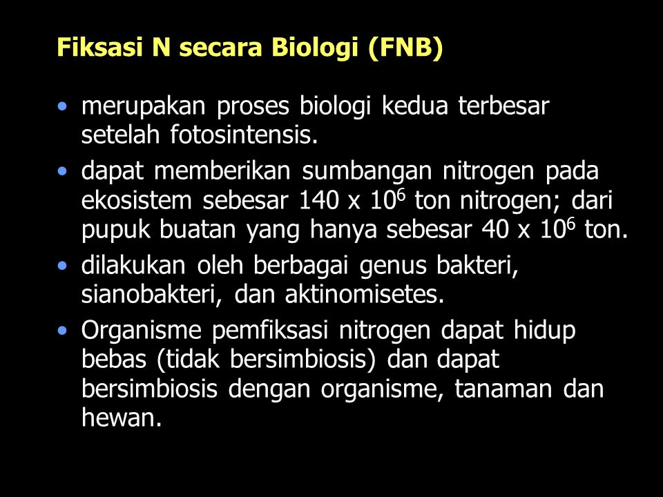 Fiksasi N secara Biologi (FNB)