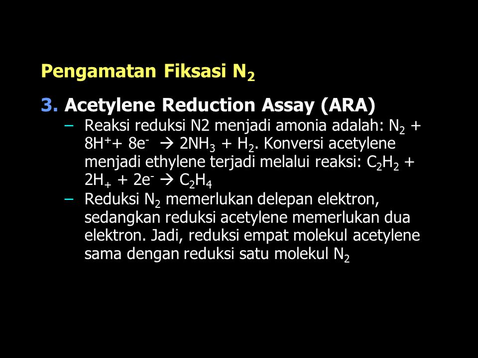Acetylene Reduction Assay (ARA)
