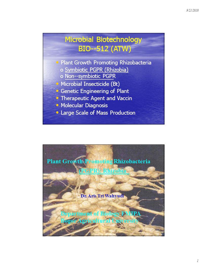 Microbial Biotechnology BIO--512 (ATW)