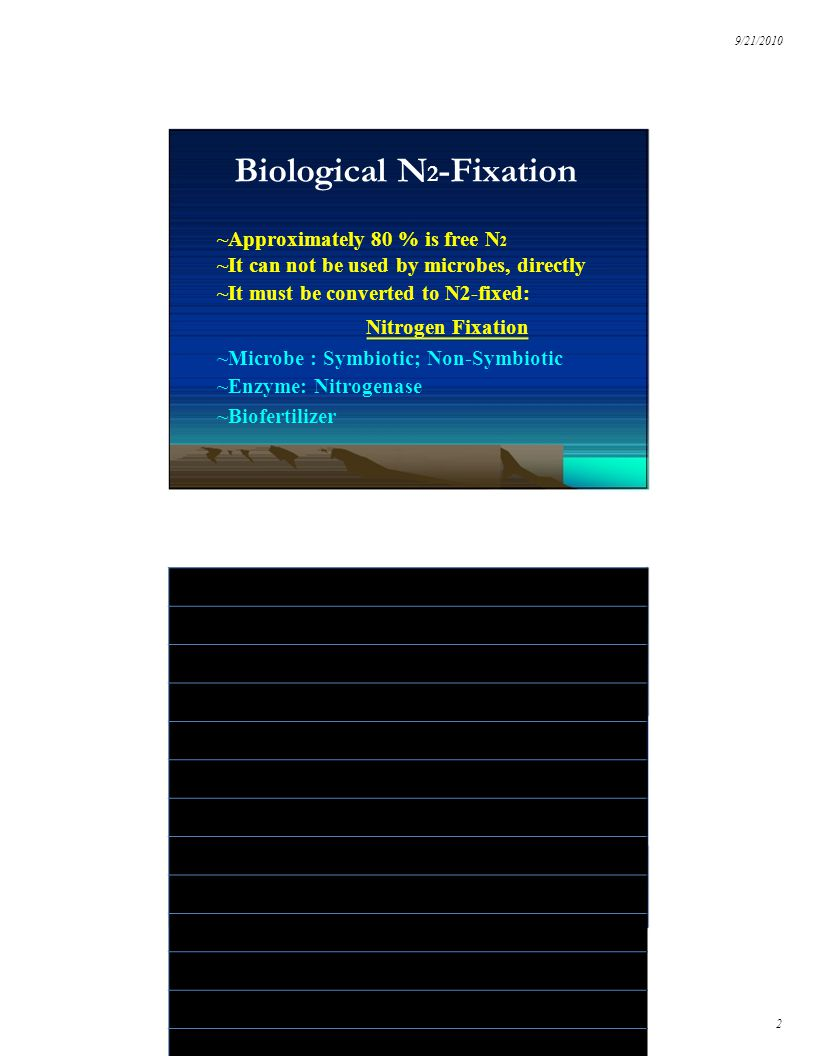Biological N2-Fixation