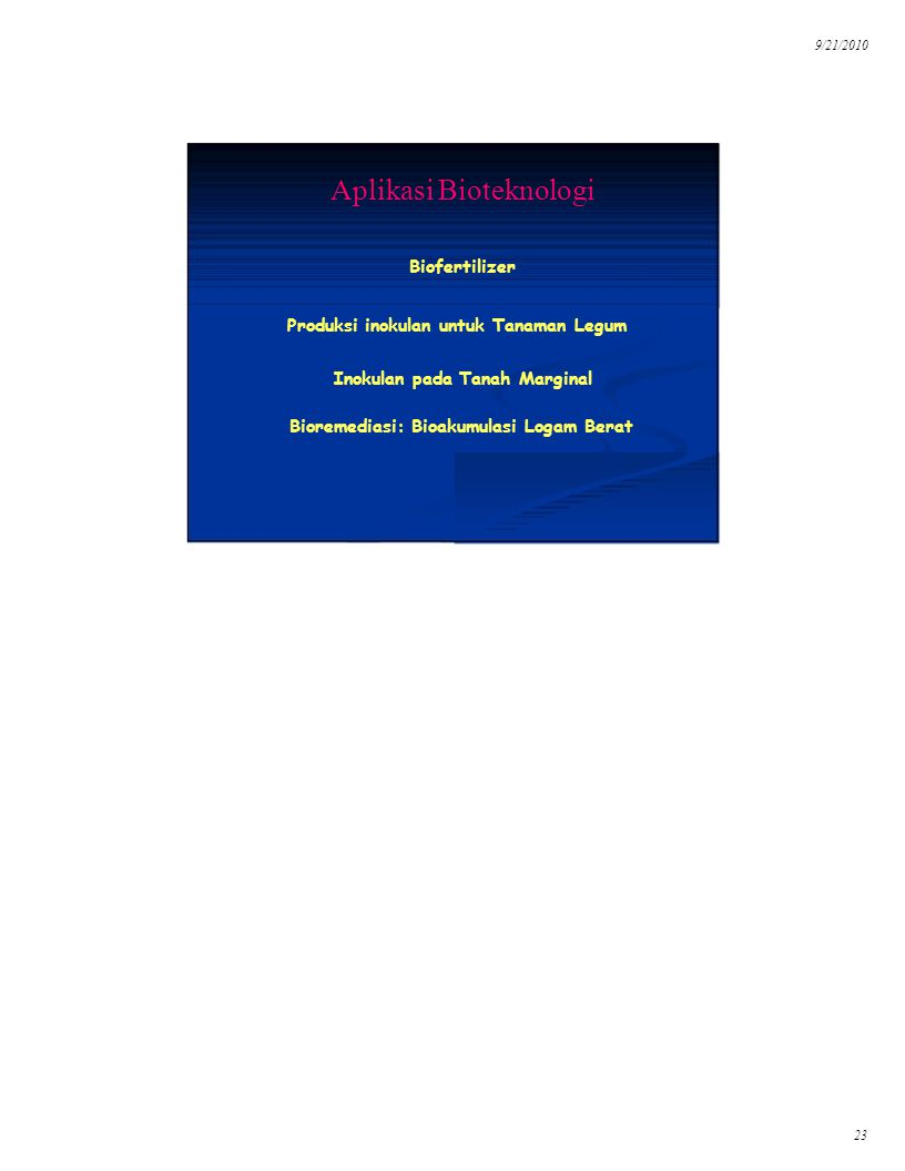 Aplikasi Bioteknologi